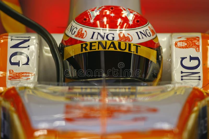 F1 2009 - Fernando Alonso Renault images stock