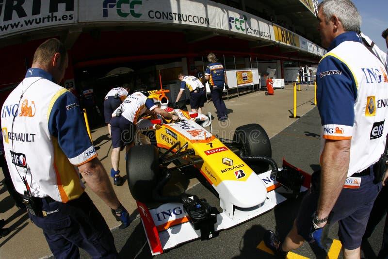 F1 2009 - Fernando Alonso Renault photos stock