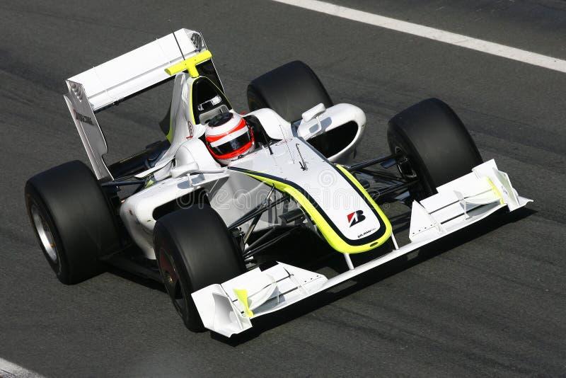 F1 2009 - Généraliste de pâté de cochon de Rubens Barrichello photos stock
