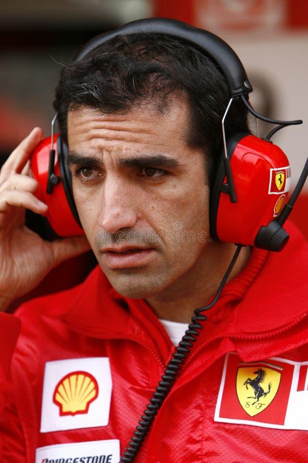 F1 2009 - Gene Ferrari de Marc fotos de archivo