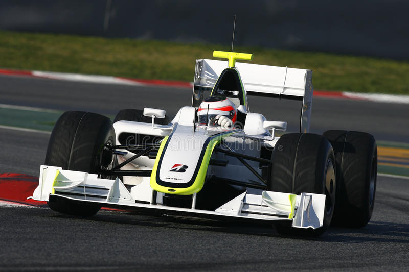 F1 2009 - GP do Brawn de Rubens Barrichello foto de stock royalty free