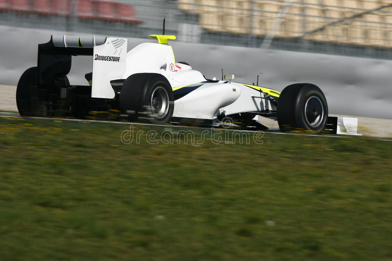F1 2009 - GP do Brawn de Rubens Barrichello fotografia de stock royalty free