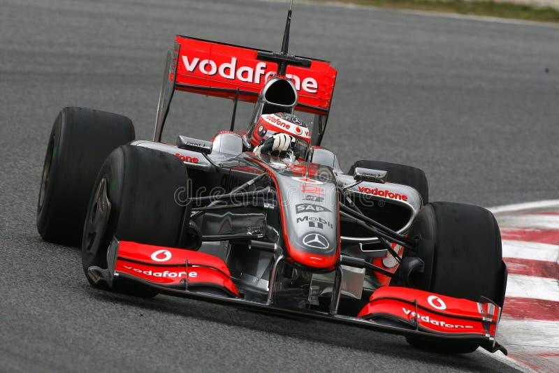 F1 2009 - Heikki Kovalainen McLaren lizenzfreie stockfotos