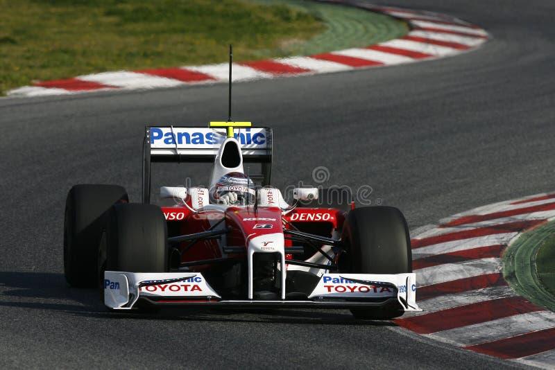 F1 2009 - Jarno Trulli Toyota royalty-vrije stock foto