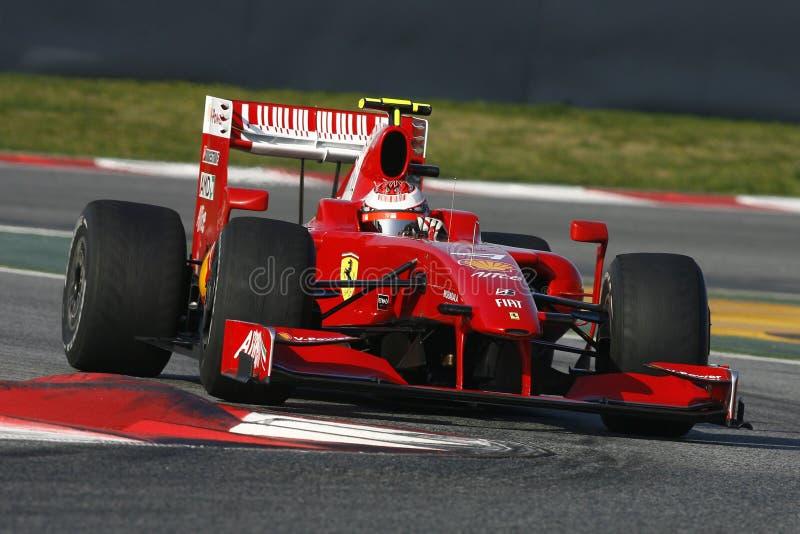 F1 2009 - Kimi Raikkonen Ferrari lizenzfreies stockbild