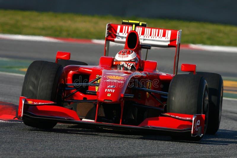 F1 2009 - Kimi Raikkonen Ferrari photos stock
