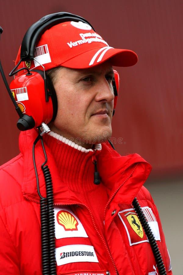 F1 2009 - Michael Schumacher Ferrari royalty-vrije stock fotografie