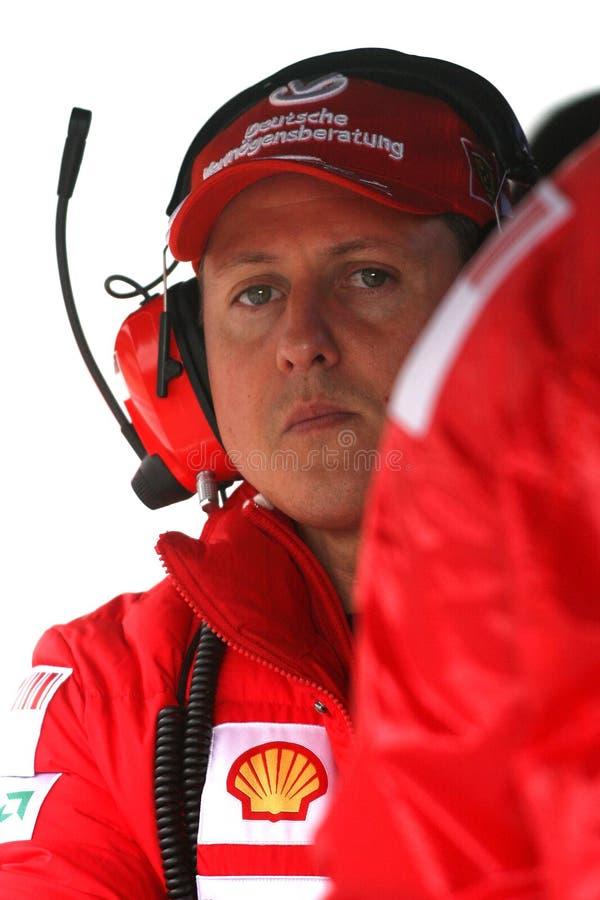 F1 2009 - Michael Schumacher Ferrari images stock