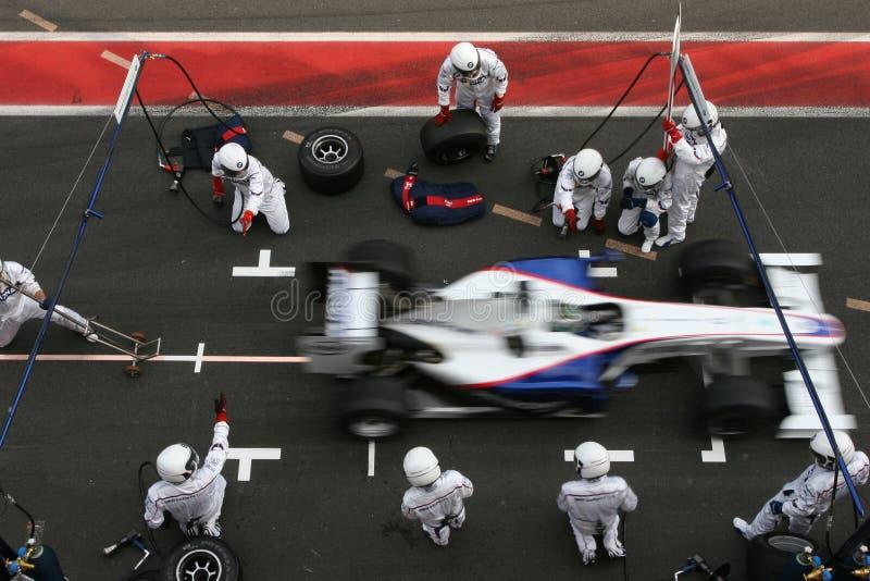 F1 2009 - Nick Heidfeld BMW Sauber imágenes de archivo libres de regalías
