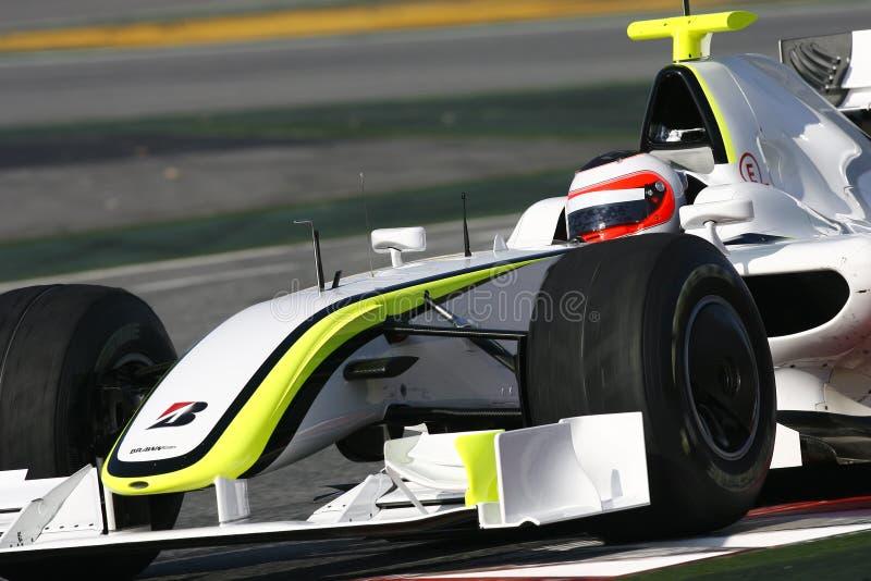 F1 2009 - Rubens Barrichello Schweinskopfsülze GP stockfotos