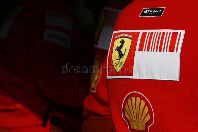 F1 2009 - Scuderia Ferrari atmospere stockfoto