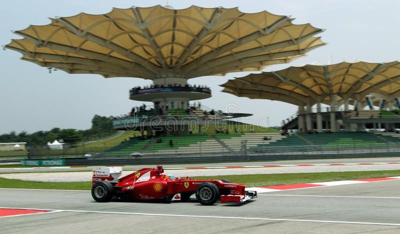 F1 Bestuurder Fernando Alonso stock foto