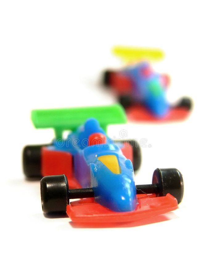 F1 cars toy royalty free stock photography