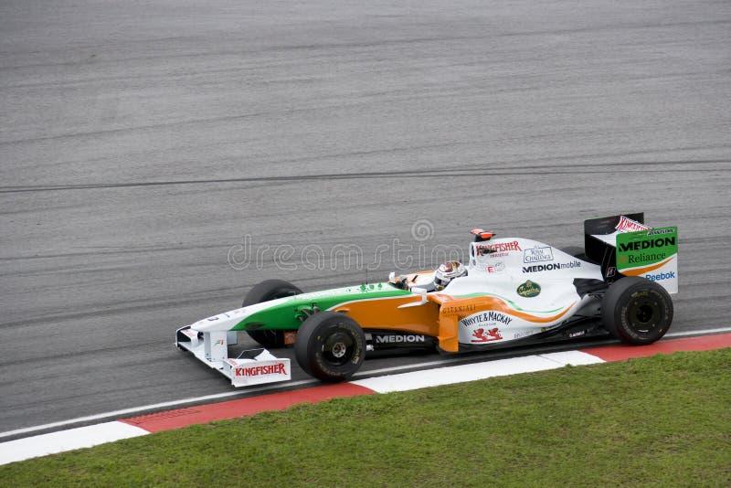 F1 che corre 2009 - Adrian Sutil (forza India) immagine stock