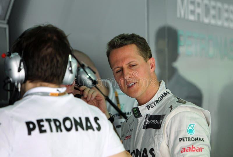 F1 excitador Michael Schumacher imagens de stock