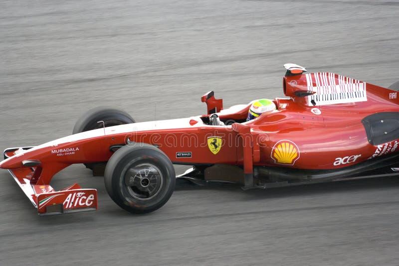 F1 que compite con 2009 - Felipe Massa (Ferrari) foto de archivo