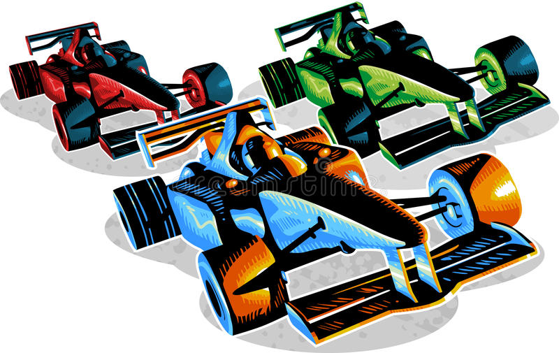 F1 Racing stock illustration