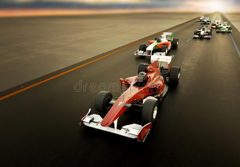 F1 Racing royalty free stock photography