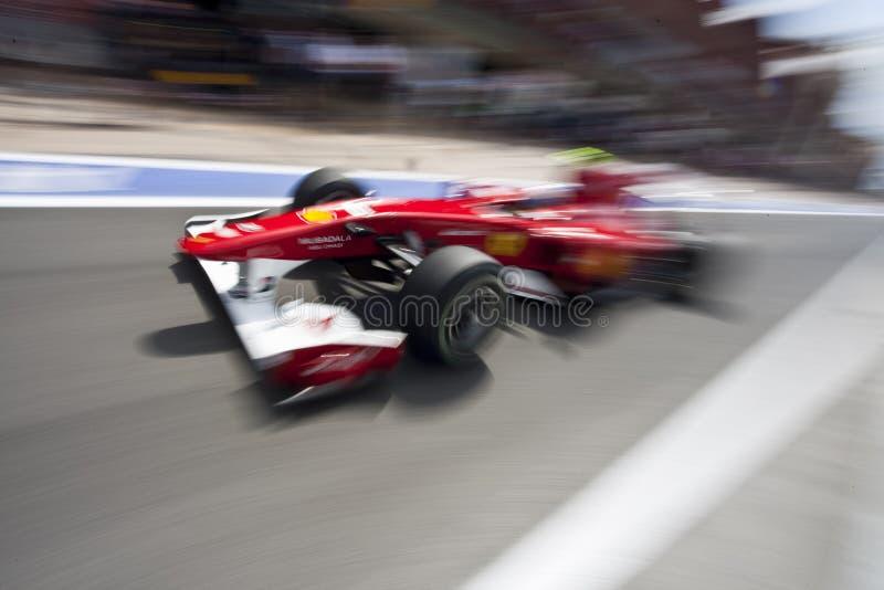 F1 Valencia Straßen-Kreisläuf 2010 lizenzfreies stockbild