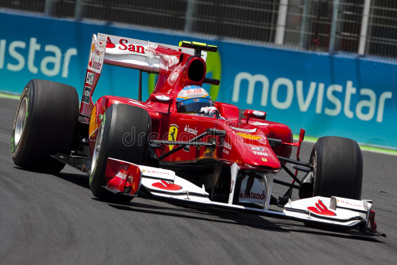 F1 Valencia Straßen-Kreisläuf 2010 lizenzfreies stockfoto