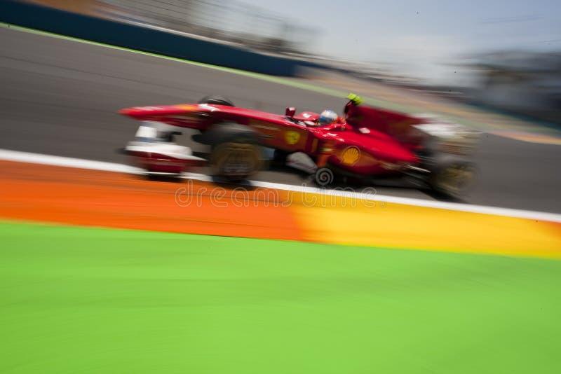 F1 Valencia Straßen-Kreisläuf 2010 stockfotos