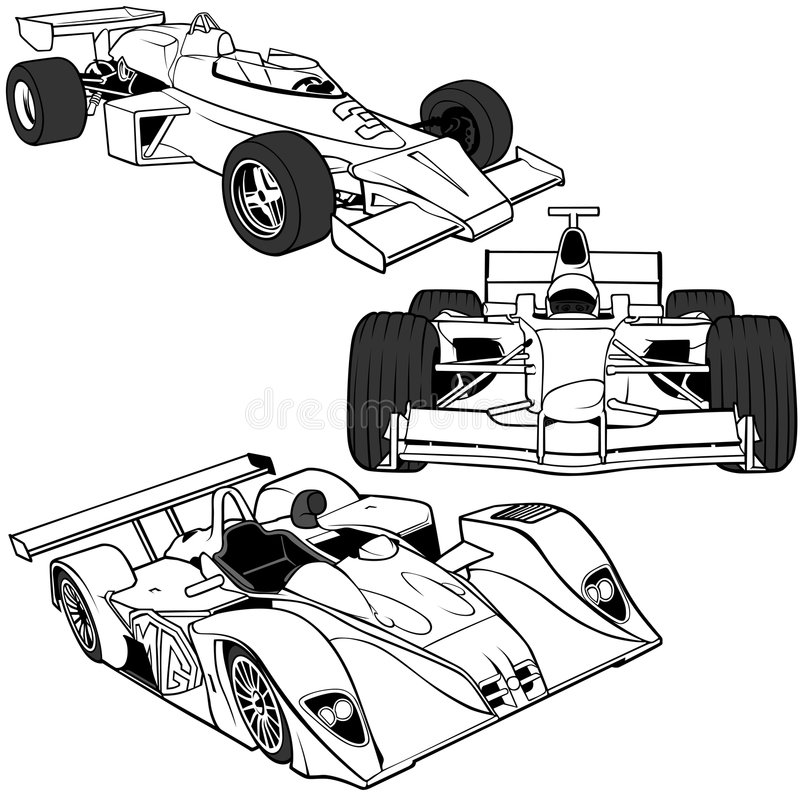 F1 vol.2 automatico illustrazione di stock