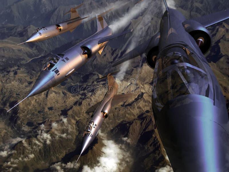 F104 eskader vector illustratie