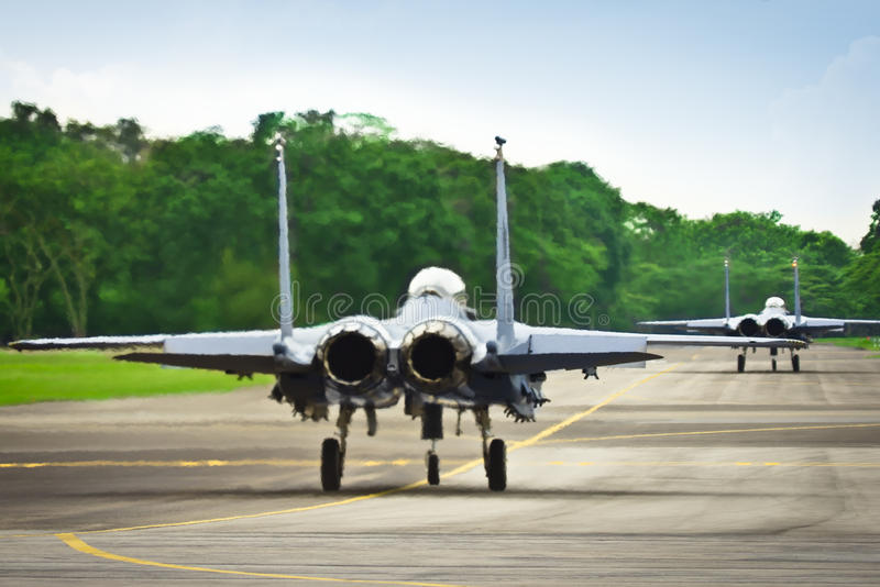 F15 u. F16 auf Laufbahn lizenzfreie stockfotos