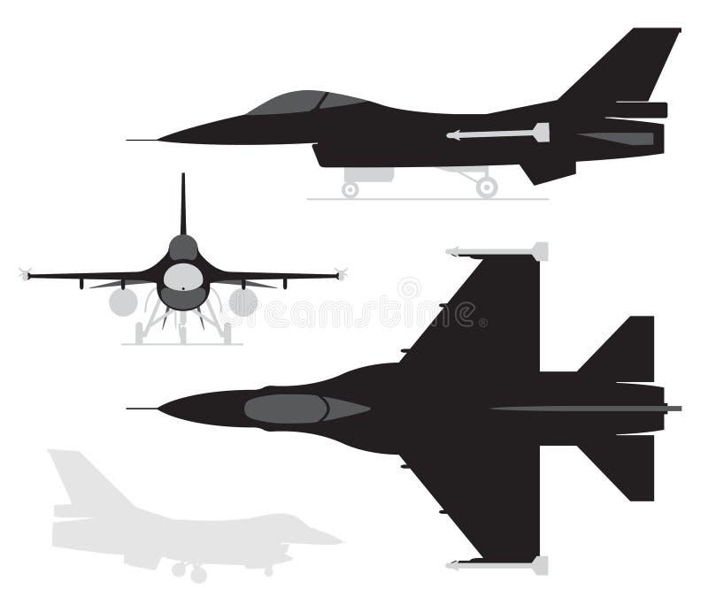 F16 stock illustratie