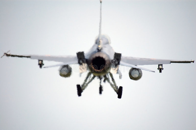 F16 fighter back side royalty free stock photos