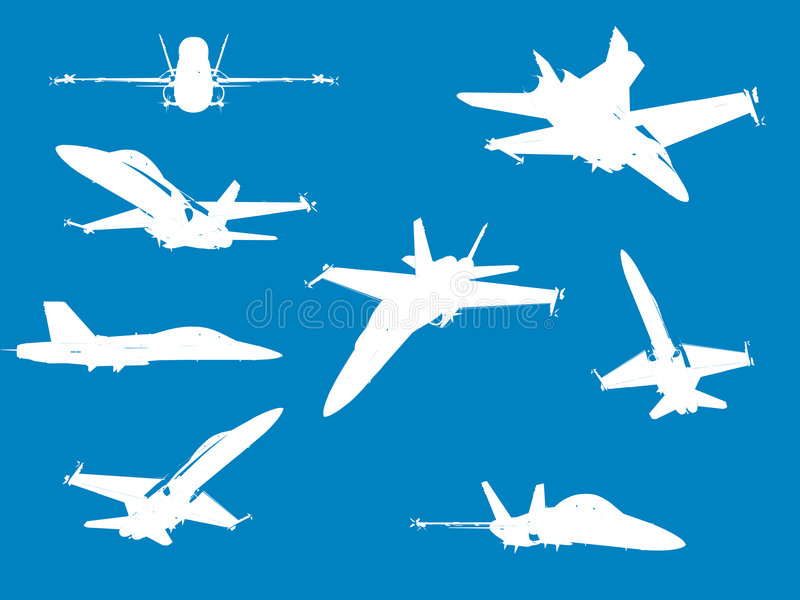 Download F18 Fighter Aircraft stock illustration. Image of navy - 205131