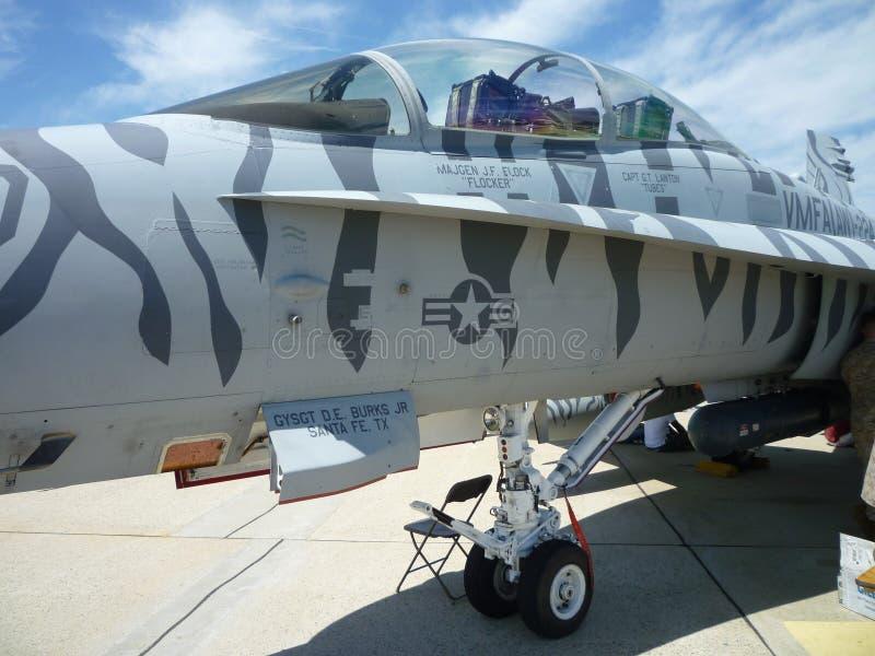 F18 Hornet Cockpit royalty free stock photography