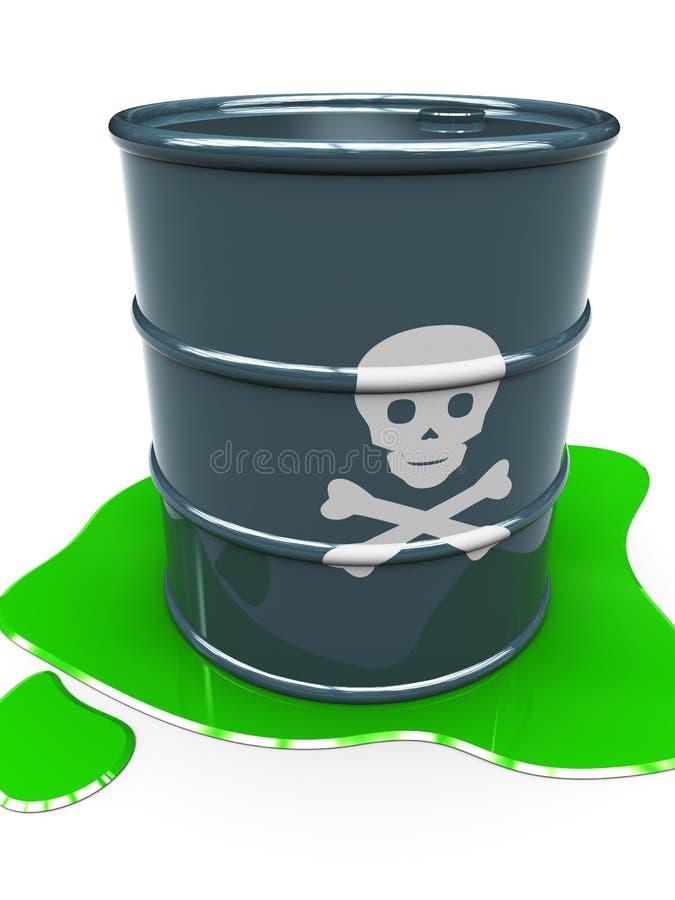 Faß mit giftiger Flüssigkeit lizenzfreie abbildung
