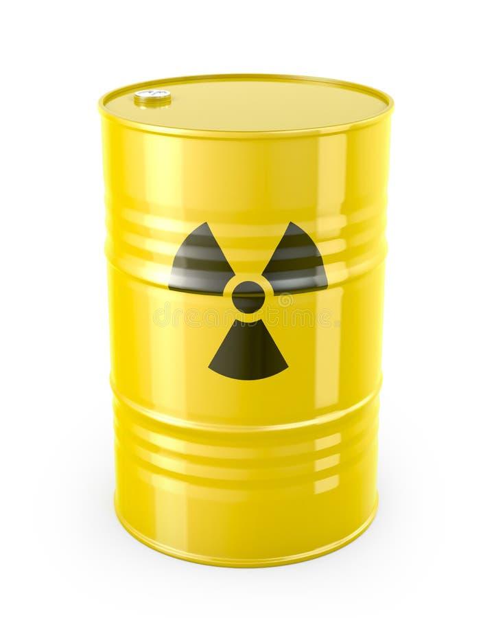 Faß mit radioaktivem Symbol lizenzfreie abbildung