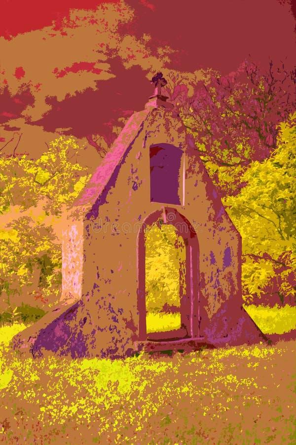 Façade de un monasterio barroco en la luz infrarroja libre illustration