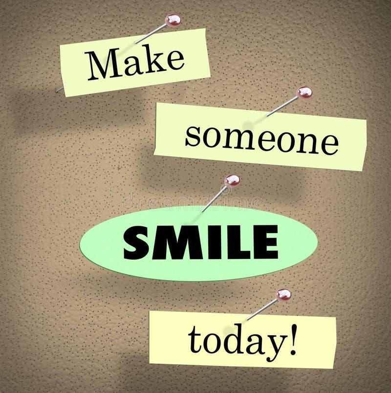 Faça alguém sorrir hoje citam dizer o quadro de mensagens ilustração royalty free
