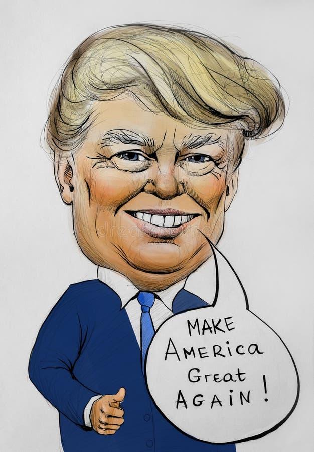 Faça América grande outra vez por Donald Trump ilustração do vetor