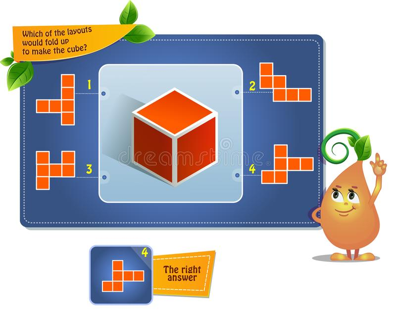 Faça as crianças do cubo ilustração royalty free