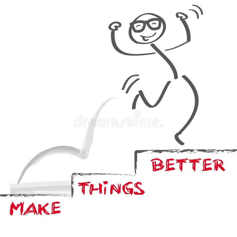 Faça coisas melhores ilustração stock