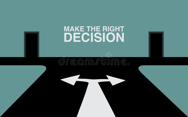 Faça a decisão direita ilustração stock