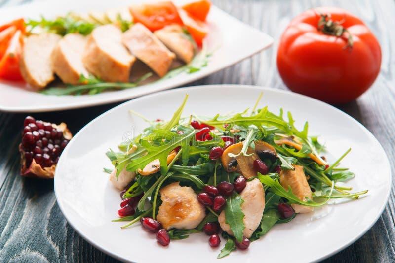 Faça dieta o alimento, proteínas, conceito saudável das refeições de baixo-caloria galinha imagens de stock
