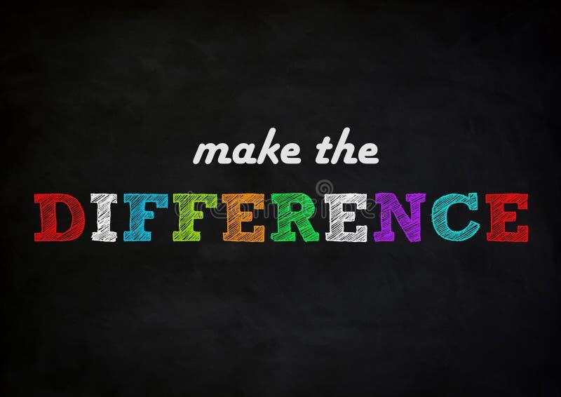 Faça a diferença ilustração stock