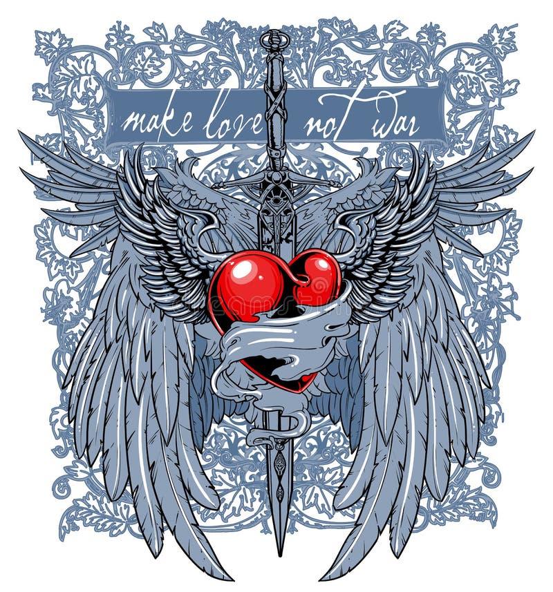 Espada do amor ilustração stock
