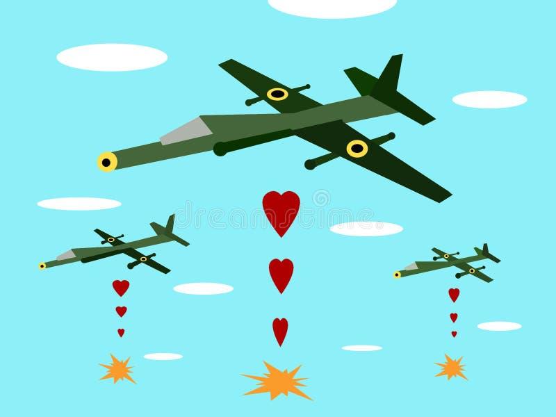 Faça a guerra do amor não imagem de stock