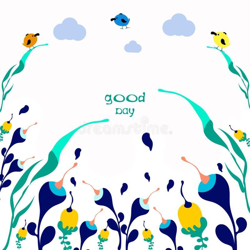 Faça hoje um positivo de rotulação escrito à mão do bom dia ilustração royalty free