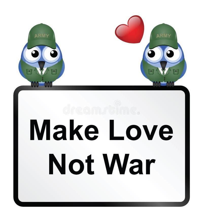 Faça o amor ilustração do vetor