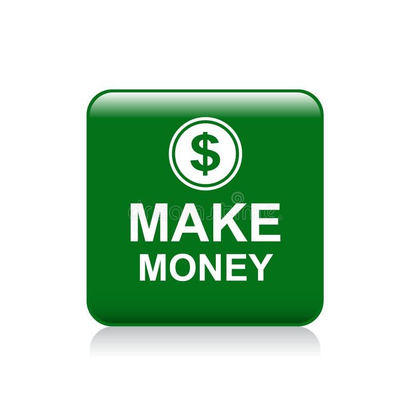 Faça o botão da Web do dinheiro ilustração do vetor