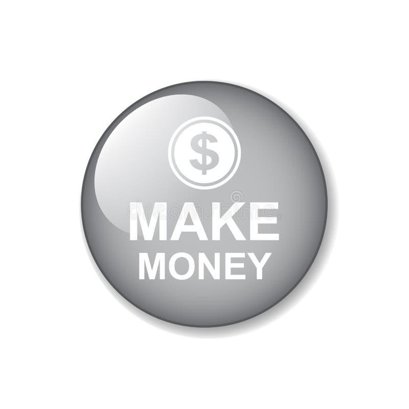 Faça o botão da Web do dinheiro ilustração royalty free