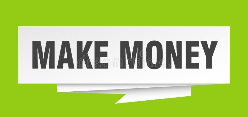 Faça o dinheiro ilustração stock