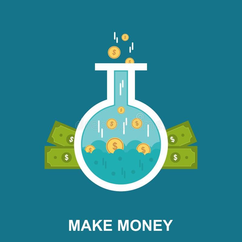 Faça o dinheiro conceito de projeto liso fotografia de stock royalty free